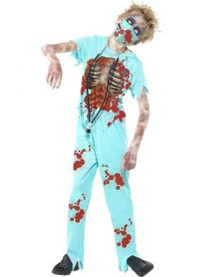 Zombie Doctor Boy's Costume Front View