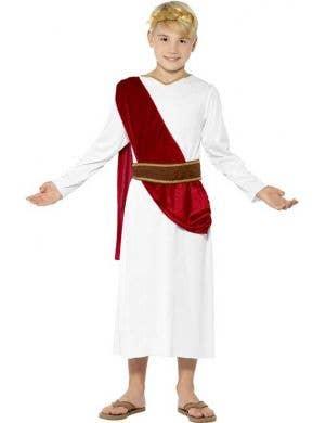 Julius Caesar Boy's Roman Toga Costume Front View