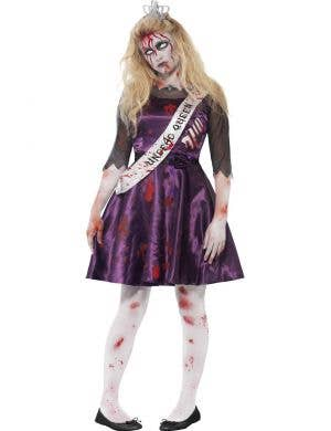 Teen Girl's Prom Queen Zombie Fancy Dress Front View