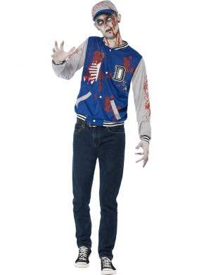 Teen Boy's Zombie High School Jock Halloween Costume Front View