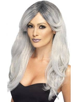 Ghostly Glamour Women's Grey Costume Wig