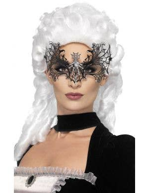 Black Widow Spiderweb Metal Masquerade Mask