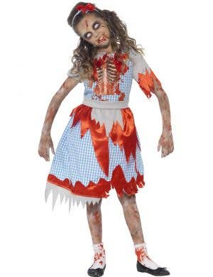 Zombie Country Girl's Undead Halloween Costume Front
