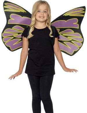 Glow in the Dark Black and Purple Flutter Wings