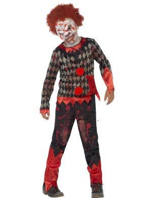 Zombie Clown Boys Scary Halloween Costume Main Image
