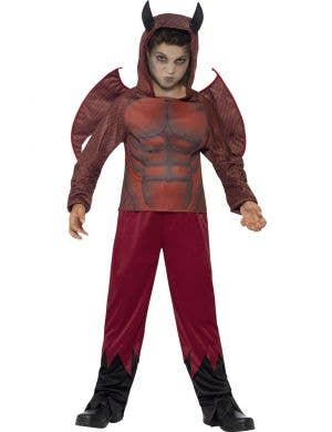 Boy's Satan Devil Fancy Dress Costume Front View
