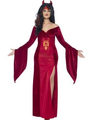 Plus Size Red Devil Women's Halloween Costume Main Image