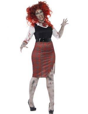 Undead Schoolgirl Women's Plus Size Zombie Costume