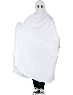 White Ghost Men's Simple Halloween Costume Main Image