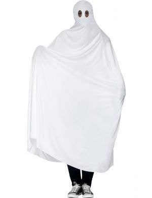 White Ghost Men's Simple Halloween Costume Main Image