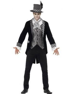 Men's Dark Mad Hatter Halloween Costume Jacket Main Image