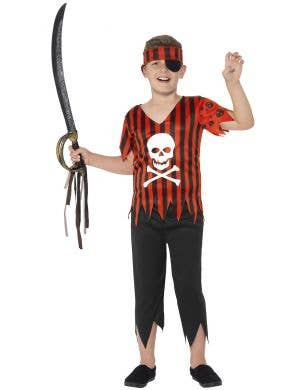 Boys Jolly Roger Pirate Mate Fancy Dress Costume