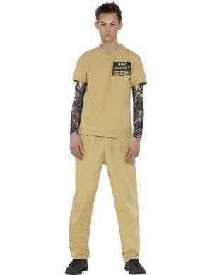 Teen Maximum Security Convict Jailbird Prisoner Costume Front view