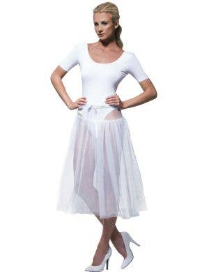 Knee Length White Tulle 1950's Petticoat