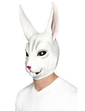 Funny White Rabbit Latex Costume Mask For Adult's