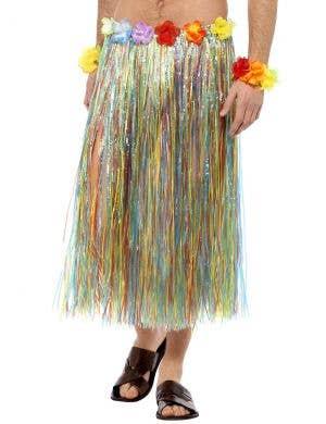 Multicoloured Unisex Hawaiian Hula Skirt Costume Accessory