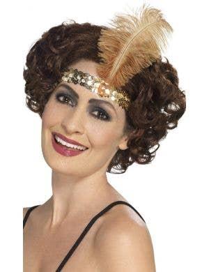 Flapper Gold 1920's Women's Headband