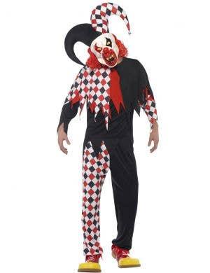 Crazed Jester Men's Halloween Fancy Dress Costume