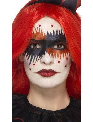 smiffys zombie sugar skull day of the dead halloween makeup kit - image one