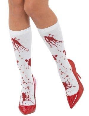 Blood Splattered Women's Halloween Costume Socks