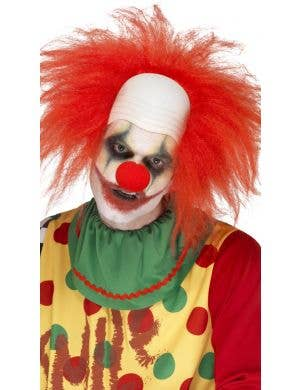 Deluxe Creepy Men's Red Clown Halloween Wig