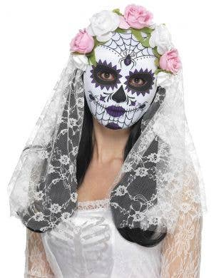 Day of the Dead Women's Bride Full Mask Costume Accessory