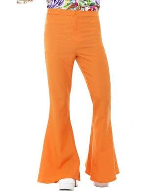 Retro 70's Orange Men's Flared Costume Trousers