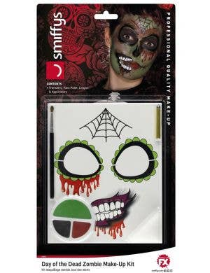 Women's Day of the Dead Sweetheart Halloween Makeup Kit Main Image