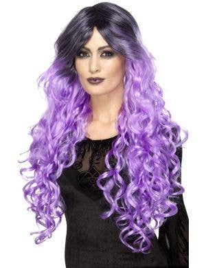 Gothic Glamour Women's Purple Ombre Halloween Wig