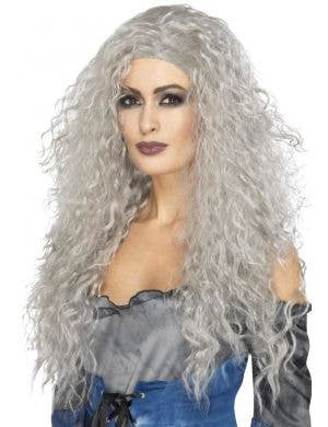 Banshee Women's Halloween Grey Wig