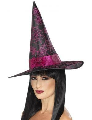 Glitter Cobweb Women's Witch Hat