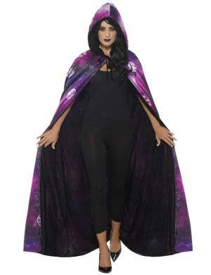 Deluxe Reversible Galaxy Ouija Halloween Costume Cape