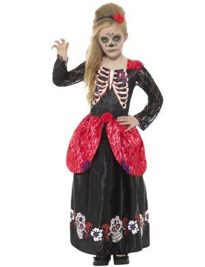 Deluxe Day of the Dead Sweetheart Girls Costume