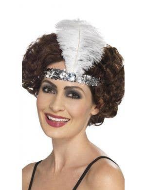Flapper Silver 1920's Women's Headband