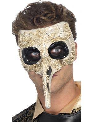 Venetian Mens Long Nose Masquerade Mask