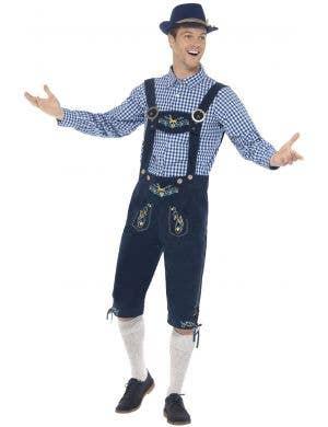 Traditional Men's Rutger Bavarian Lederhosen Oktoberfest Costume Image 1