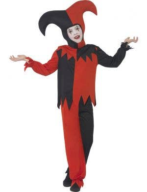 Evil Jester Boys Circus Fancy Dress Costume Main Image