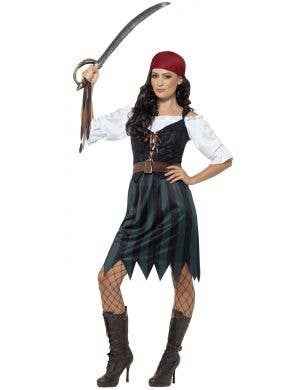 Women's Deckhand Pirate Fancy Dress Costume Image 1