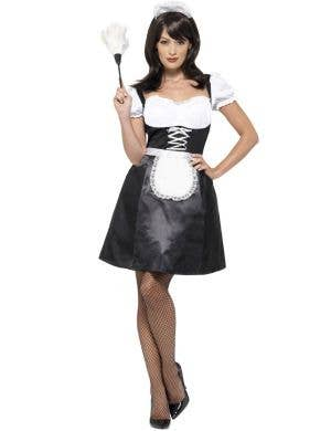 Flirty French Maid Women's Fancy Dress Costume