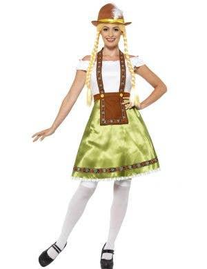 Women's German Oktoberfest Beer Maid Costume Front View