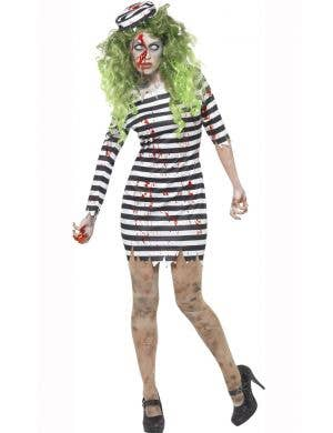 Women's Cheap Zombie Convict Costume Main Image