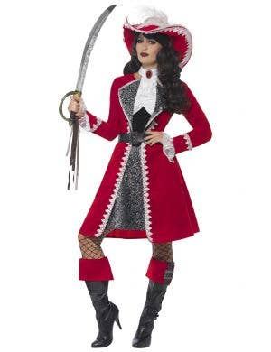 Sexy Pirate Captain Lady Deluxe Women's Costume Main Image