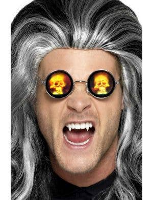 Psychedelic Skull Halloween Glasses Costume Accessory