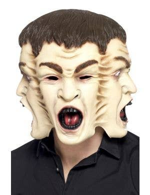 Creepy Three Face Halloween Latex Mask
