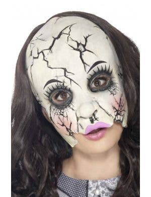 Women's Broken Doll Halloween Latex Mask