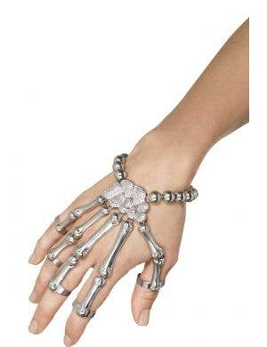 Adult's Metal Skeleton Hand Bracelet Main Image