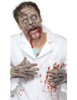 Zombie Latex Mask and Gloves Costume Kit