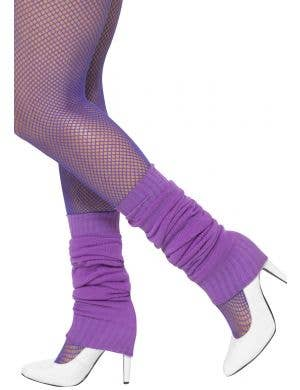 Women's Purple 1980's Leg Warmers Costume Accessory