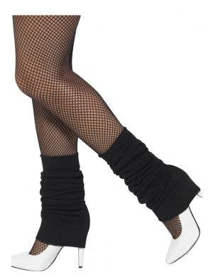 Women's Black 1980's Costume Leg Warmers