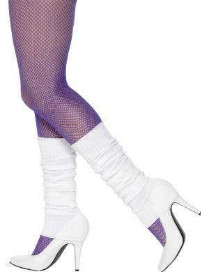 Women's White 1980's Costume Leg Warmers